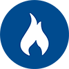 Fire protection icon blue