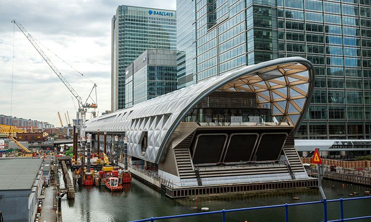 RT5, Canary Wharf Crossrail Station 2